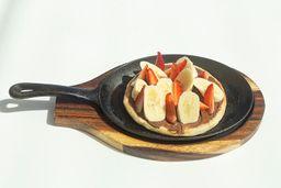 Pizza crema de cacao y avellana (nutella)