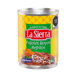 Frijoles Bayos La Sierra Refritos En Lata 580 G