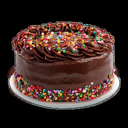 Fudge Rainbow Cake