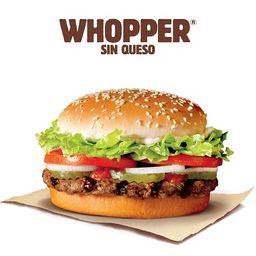 Whopper sin Queso
