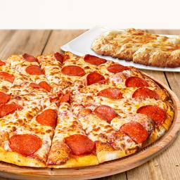 Pizza grande y 1 complemento