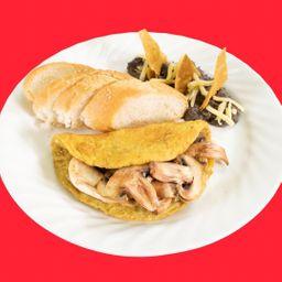 Omelette con Champiñones y Oaxaca