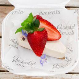 Keto cheesecake helado vainilla fresa