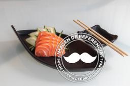 Sashimi de salmón (Corte grueso)