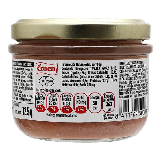 Paté Coren a Las Finas Hierbas 125 g