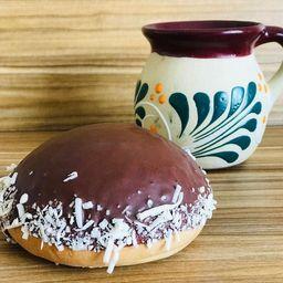 Calvo de chocolate con coco