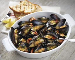 White Wine and Roasted Mussels