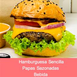 Combo hamburguesa sencilla