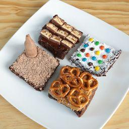 Caja con Cuatro Brownies con Toppings
