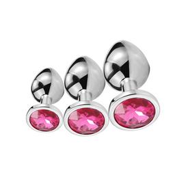 Peach Plug Anal Con Joya de Acero Color Rosa