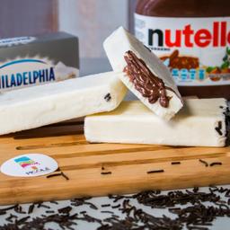 Paleta de Philadelphia con Nutella