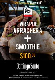 Promo: Wrapp de arrachera + Smoothie 🌮