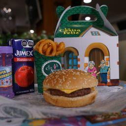 Casita Feliz: hamburguesa + juguete sorpresa