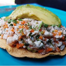 Tostada Ceviche Vallarta