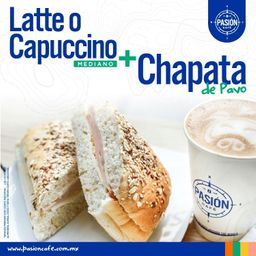 Latte Mediano Mas Chapata de Pavo