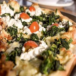 Súper Pizza Tres Quesos Vegetariana