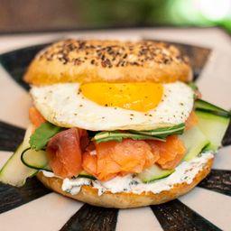 Salmon Egg Bagel