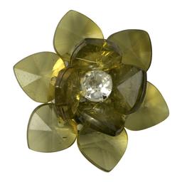Adorno Flor de Acrílico 3 cm 50 U Olivo