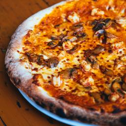 Pizza Camarones Mamma Rossa
