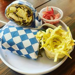 Burrito de Camarón y Pescado al Pesto Verde