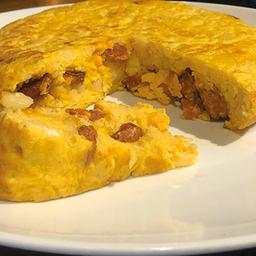 Tortilla de Patata con Chistorra