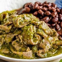 Bistec en salsa verde