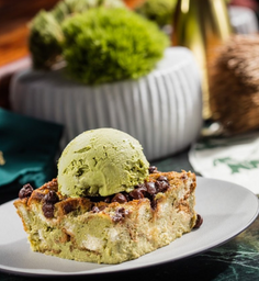 Bread Pudding de Matcha