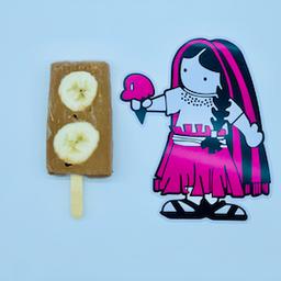 Paleta de Plátano con Nutella