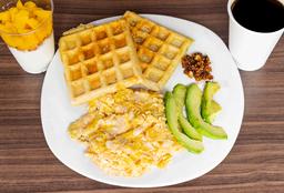 Paquete 9 2 Waffles c 2 Huevos al Gusto