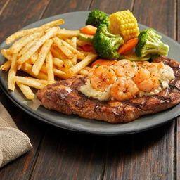 Shrimp'n Parmesan Steak