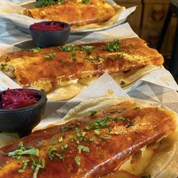 Costras de queso con camarón o marlin