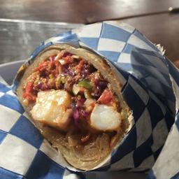 Burrito de Chile Güero Relleno de Marlín y Camarón