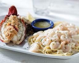 Stuffed Lobster Alfredo