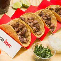 Combo 4 Tacos Arrachera