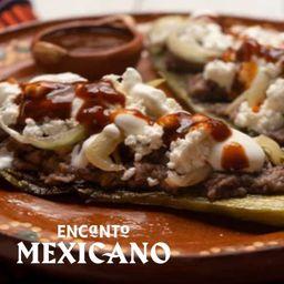 Huarache con Bistec