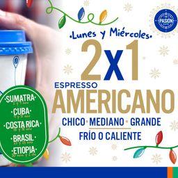 Miercoles 2x1 Café Espresso