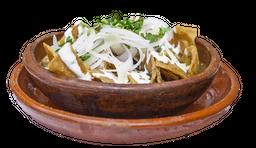Chilaquiles con Mariscos