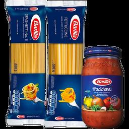 Rappicombo Barilla Spaghetti + Fettuccine + Salsa Albahaca