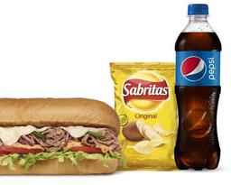 Combo Sándwich de Carne Y Queso 15 cm