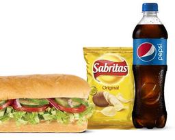 Combo Sándwich Deleite Vegetariano 15 cm