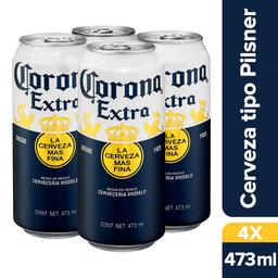 Corona Extra Latón 473 mL x4