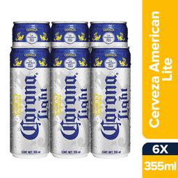 Corona Light Lata 355mL x6
