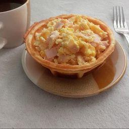 Bowls de Waffle de Huevo Al Gusto