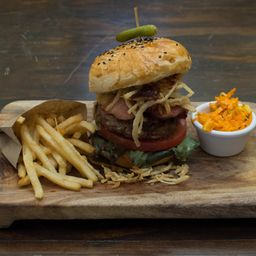 Combo Cranberry & Swiss Cheese Burger