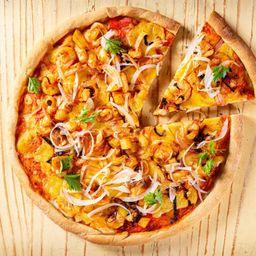 Pizza de Camarones Al Ajillo