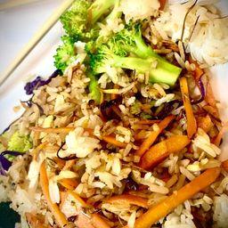 Wok 25 Lemongrass Rice Vegetales