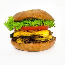 Hamburguesa el goyo doble (vegano)