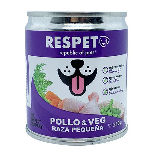 Respet Alimento Para Perro Pollo y Vegetales 410 g