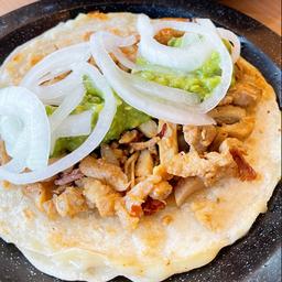 Taco bistec tortilla de harina
