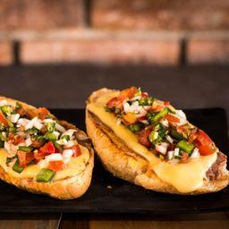 Molletes de Chorizo